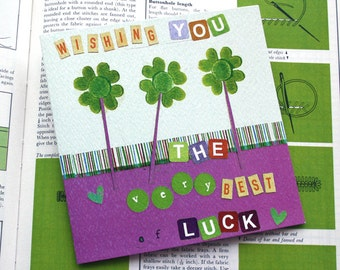 wishing you the very best of luck card