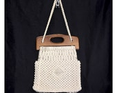 Vintage 70s The Boheme Macrame Handbag