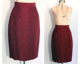 Vintage 80s Roses and Kisses Lace Skirt