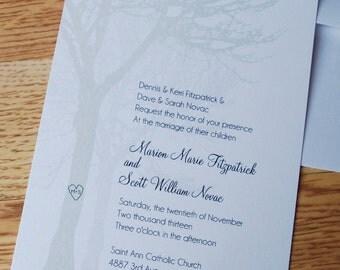Tree Design Wedding Invitation Set