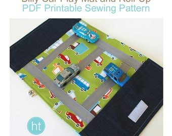 PDF Sewing Pattern for the Billy Car Roll-Up and Play Mat. Travel Game. PDF Pattern. Car Mat. Kids. Boys.