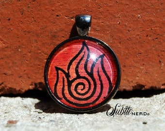 Fire Nation Pendant inspired by Avatar the Last Airbender