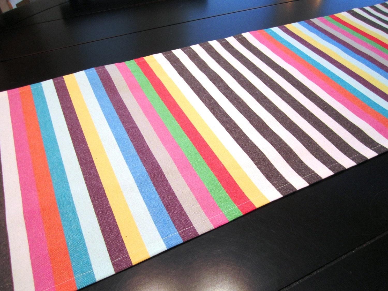 Modern stripe table runner by liltulip on etsy for Modern table runner