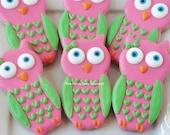 Custom cute owl cookies 1 dozen
