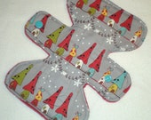 "Toadstool Houses  - Grey - 7.5"" inch - 3L - Reusable Cloth Pad"