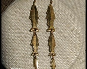Triple Dangle Trout Earrings