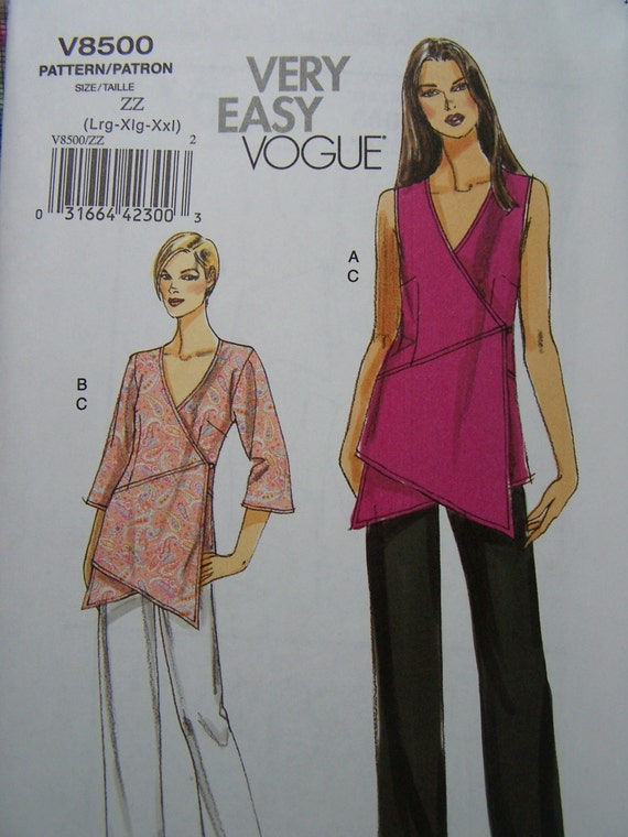 Vogue V8500 Very Easy Sewing Pattern Women S Wrap Front