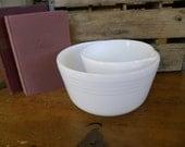 Vintage Milk Glass Mixing Bowls
