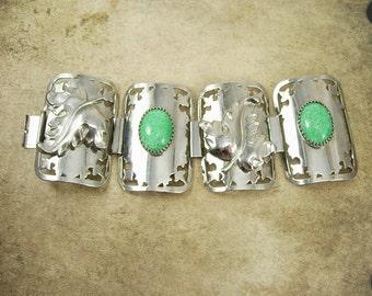 Vintage bracelet Nouveau bracelet HUGE cuff bracelet peking GLASS Bracelet statement bracelet