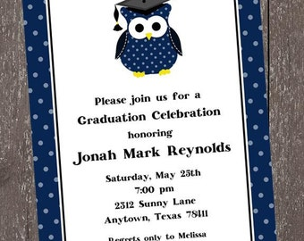 Owl Graduation Celebration Invitation