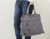 New Year SALE - 20% OFF Wisey in Gray / Messenger / Handheld / Document bag / Laptop / working Bag / Purse / Women / For her / Gift ideas