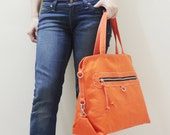 New Year SALE - 20% OFF Wisey in Orange / Messenger / Handheld / Document bag / Laptop / working Bag / Purse / Handbag / Women / For her