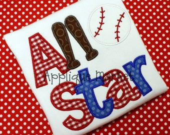 Machine Embroidery Design Applique All Star INSTANT DOWNLOAD