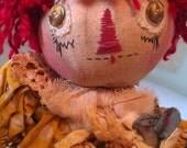 "Kittie, Kat and Mouse, 24"" Primitive Raggedy Doll Pattern, PDF Version"