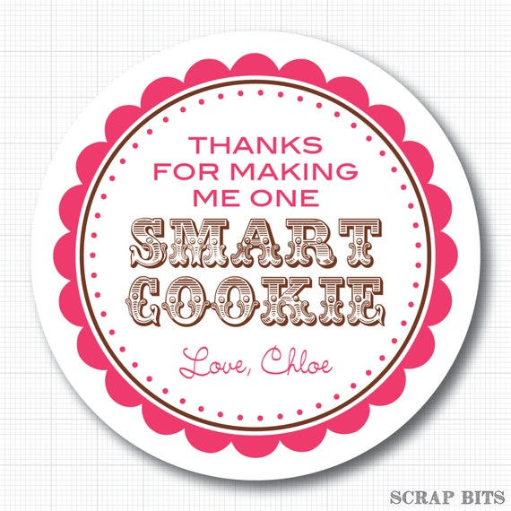 Unforgettable image for thanks for making me one smart cookie free printable
