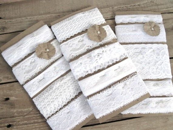 Lace Sampler Set - 10 yards vintage lace - pure white collection - mixed selection - wedding decor, wedding diy, baby shower, embellishment