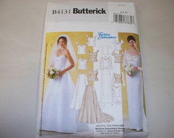 New Butterick Bridal Gown Pattern, B4131 (6,8,10) (Free US Shipping)