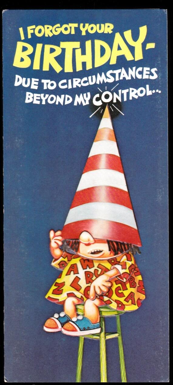 Funny Retro Birthday Wishes ~ Im stupid retro studio greeting card joli by