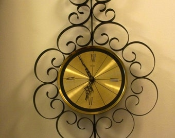 Vintage Welby Wall Clock AS IS Elgin Salvage MId Century  NONFUNCTIONING