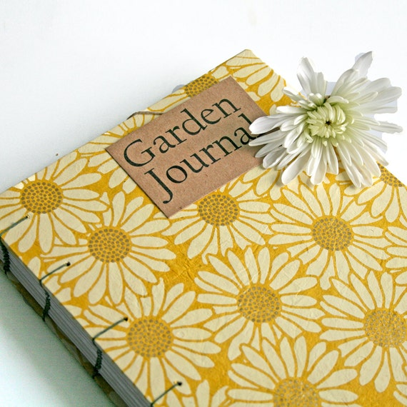 Garden Journal The Essentials with yellow daisy by