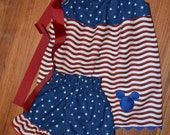 Disney on the 4th of July Swing Top and Ruffle Shorts Mickey Minnie Mouse