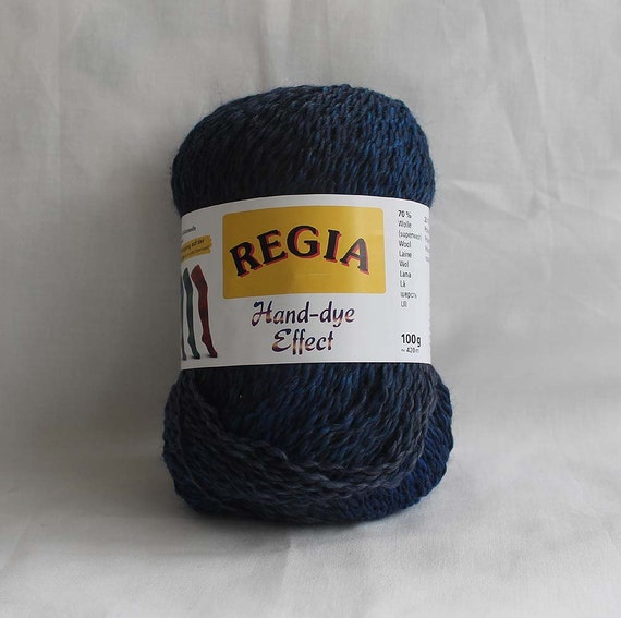 regia hand dye effect sock yarn blue 100 g. Black Bedroom Furniture Sets. Home Design Ideas