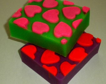 Heart Soap - Hearts - Love - Weddings - You Choose Colors/Scent