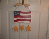 United We Stand flag wall decor