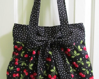 Cherry Purse with Bow