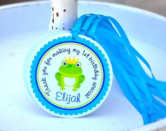 Frog Prince Hang Tags, Frog Prince Gift Tags, Frog Prince Birthday Party - Set of 12