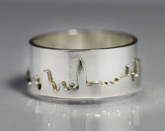 New York City Skyline Ring Sterling Silver (Made to Order)