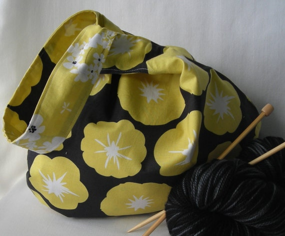 Knitting Project Bags For Sale : Sale project bag japanese knot for knitting crochet