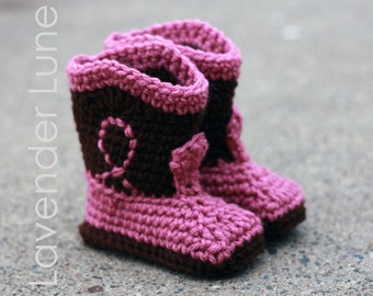 The Western - Cowboy Baby Booties, Baby Booties
