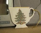 Spode Christmas Tree Tea Cup Ornament.