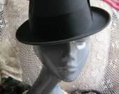 Vintage unisex fedora, charcoal grey unisex fedora, Durafelt Mallory Premier fedora, size 6 3/4 grey fedora, Mad Men fedora, retro fedora