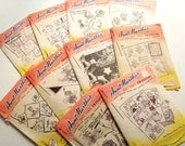Vintage Aunt Martha's Hot Iron Transfers qty 10