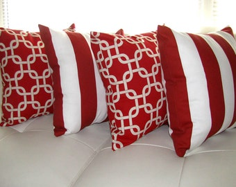 Popular items for red outdoor pillow on Etsy