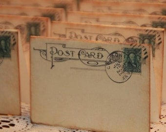 Wedding Place Cards, Vintage Post Cards Placecards, Escort Cards, Tent Table Place Cards,50