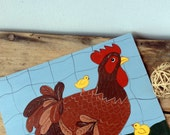 Vintage Folk Art Painting - Chicken