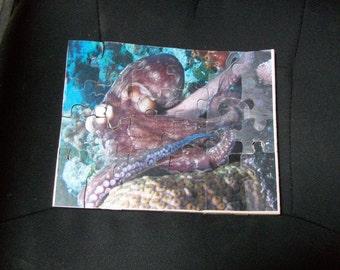 Wooden Octopus children's jigsaw puzzle
