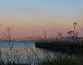 The San Francisco Bay at Sunset ---Marin Digital painting image---instant download--- by DylanD