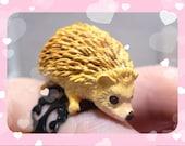 Little Hedgehog Black Ring