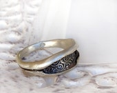 Texture Ring - Anticlastic Band Ring in Sterling Silver