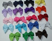 20 Itty Bitty Bow Snap Clip-Baby Bow-Toddler Bow-Fine Hair Clip-CHOOSE 20