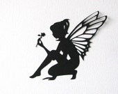 Fairy die cut embellishments in any color set of 4