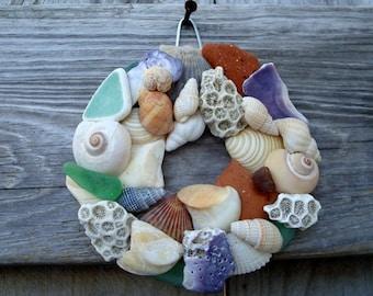 Shell Wreath - Natural Shell Wreath - Shell Home Decor - Beach Home Decor - Small Shell Wreath