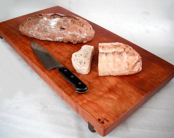 Made to Order Eco LARGE cherry cutting board reclaimed hardwoods
