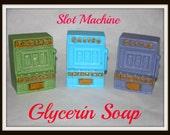 SLOT MACHiNE SOaP -  Gambling - Casino - Las Vegas - One Armed Bandit - Gaming - Handmade Soap - Customize Color & Scent - Perfect Gift Soap