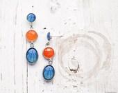 Hydrangea dangle earrings - Flower jewelry - Bloom Collection by BeautySpot (E128)