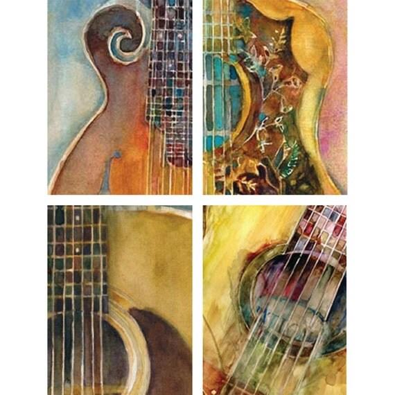 ACEO Digital Print Card Bundle String Instruments 4 for 10.00